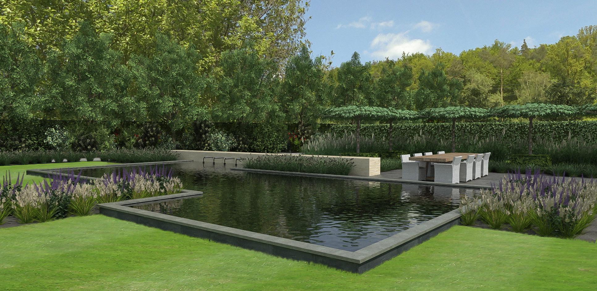 Tuin ontwerpen 3d trendy d tuinontwerp tuin met stalen for 3d tuin ontwerpen